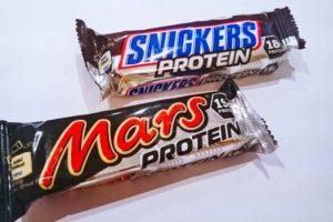 barres protéinées mars et snickers