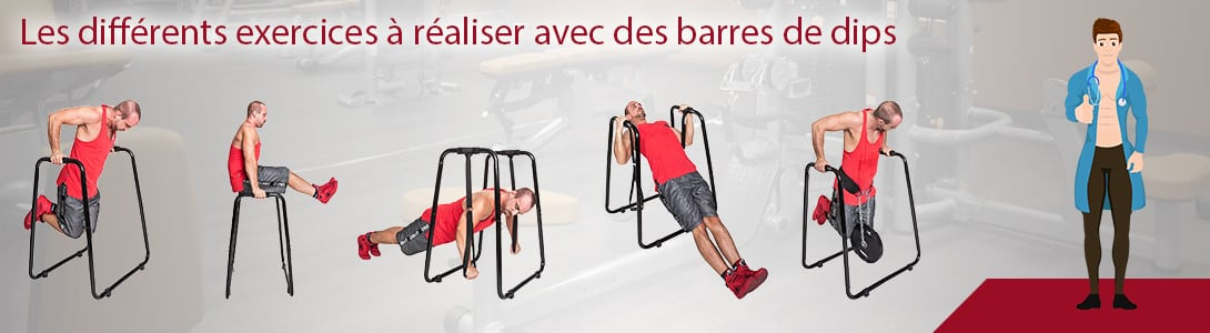 exercices musculation barre de dips