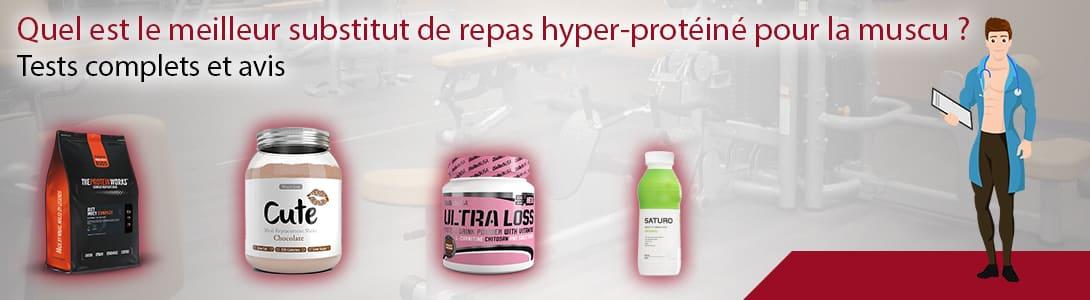 meilleur substitut de repas hyperprotéiné