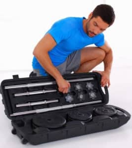 valise haltères kit musculation