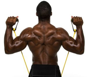 élastique de musculation pour travailler le dos