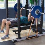cage à squat avec ancrage pour bandes élastiques