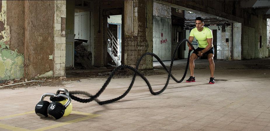 battle rope et kettlebell