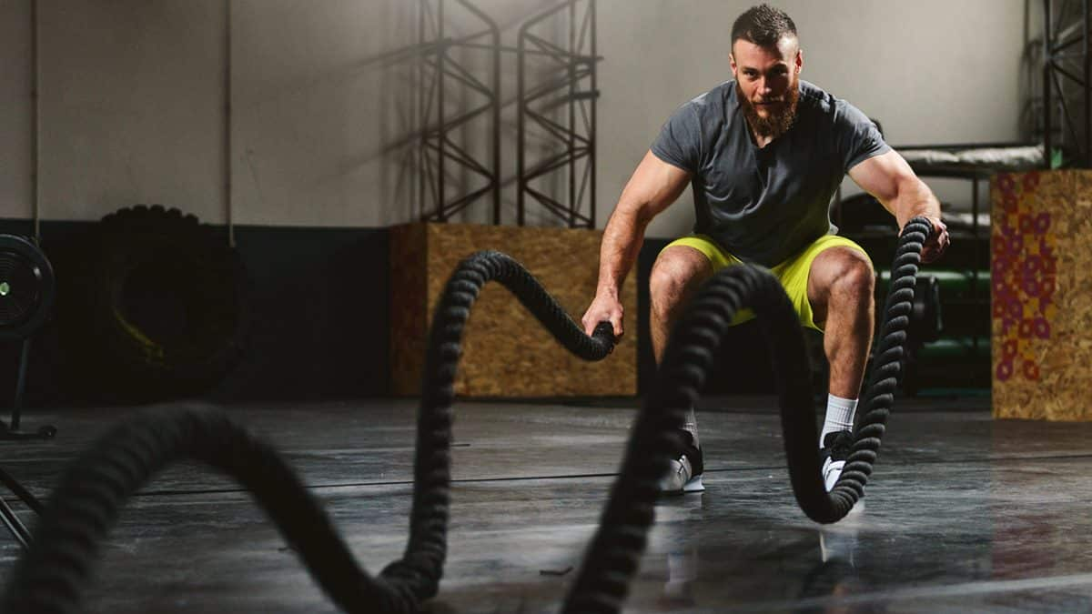 battle rope musculation crossfit