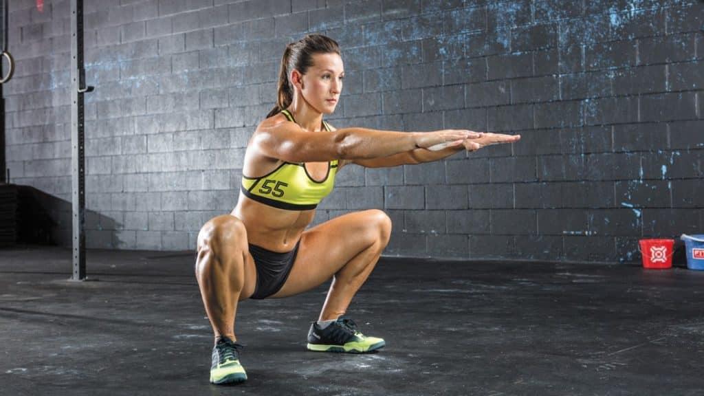 squat poids de corps méthode tabata