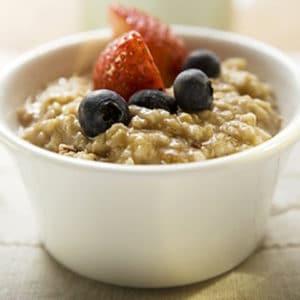 porridge crémeux et protéiné