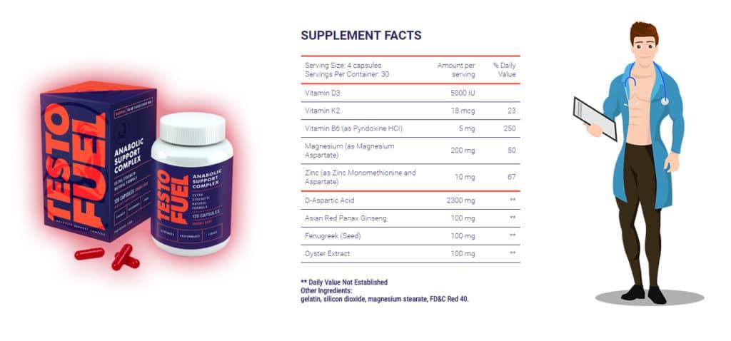 composition ingrédients testofuel