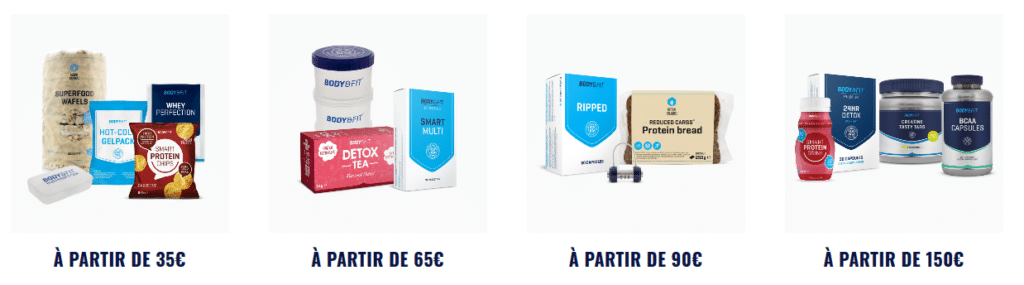 cadeaux commande Body and fit